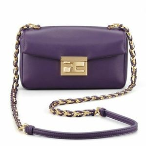Auth FENDI Be Lether Crossbody